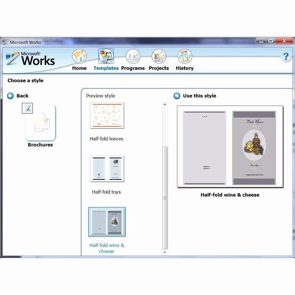 Microsoft Word Program Template Unique Microsoft Word Brochure Template