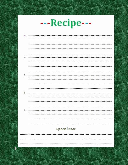 Microsoft Word Recipe Template Awesome Recipe Card Template for Word Beepmunk