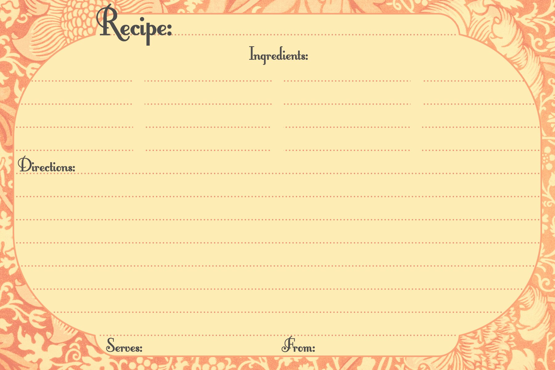 Microsoft Word Recipe Template Lovely 13 Recipe Card Templates Excel Pdf formats