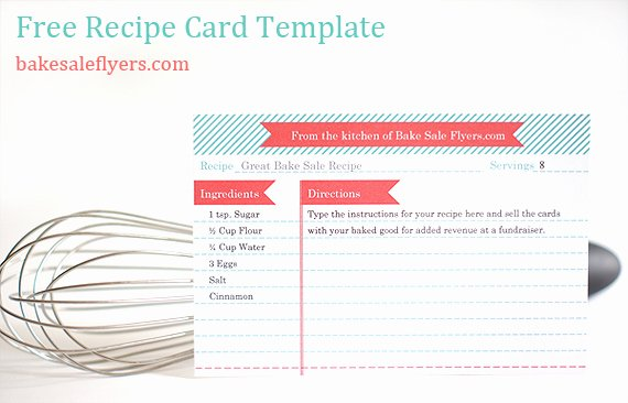 Microsoft Word Recipe Template New Recipe Card Template