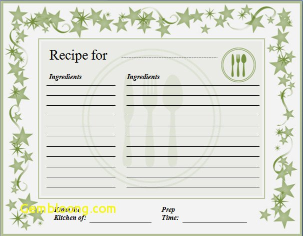 Microsoft Word Recipe Template Unique Recipe Card Template Word New Ms Word Recipe Template
