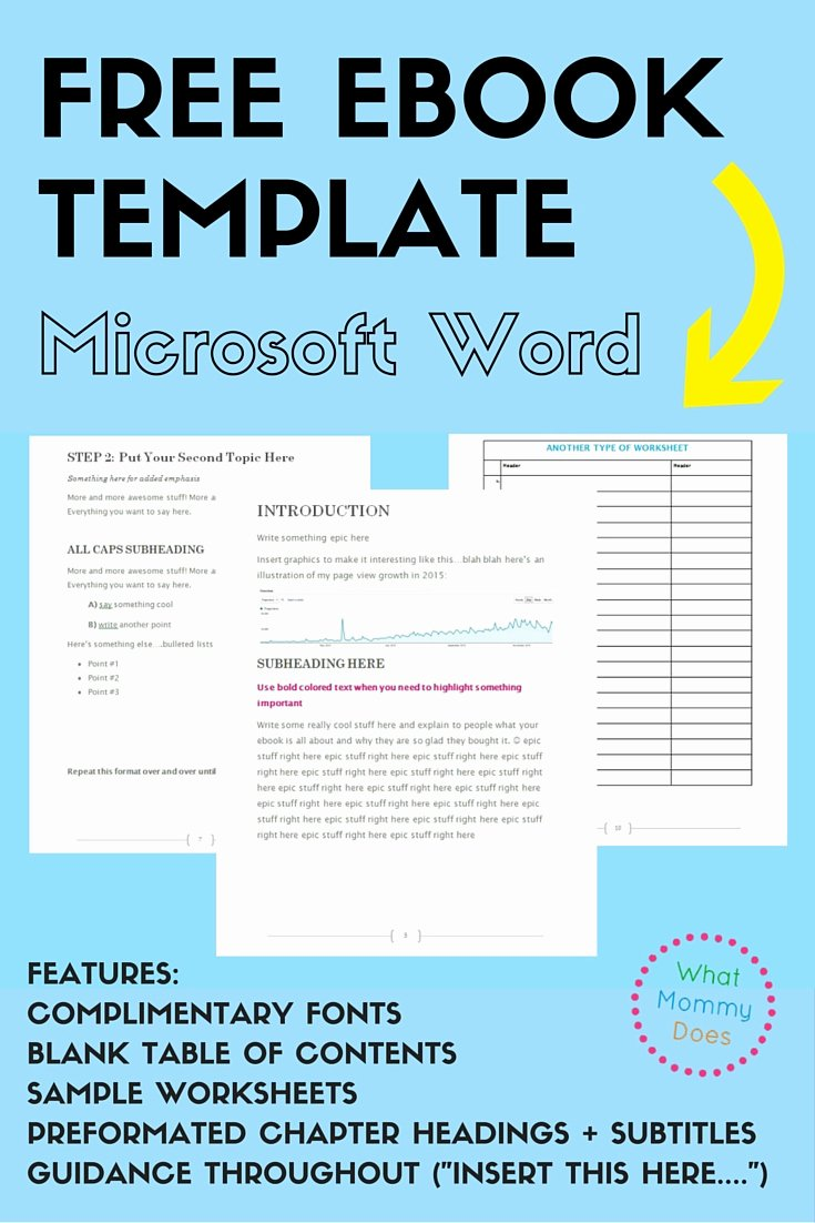 Microsoft Word Screenplay Template Awesome Free Ebook Template Preformatted Word Document What