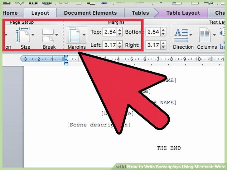 Microsoft Word Screenplay Template Elegant 5 Ways to Write Screenplays Using Microsoft Word Wikihow