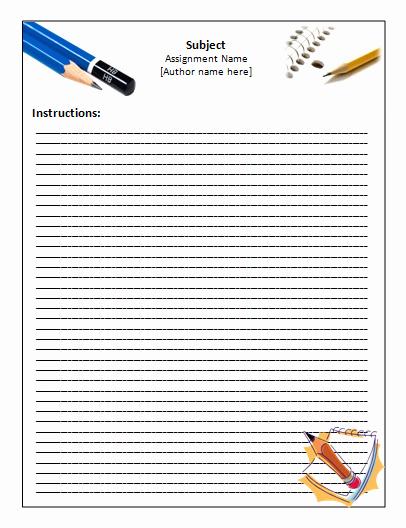 Microsoft Word Screenplay Template New Handwriting Paper Template – Microsoft Word Templates