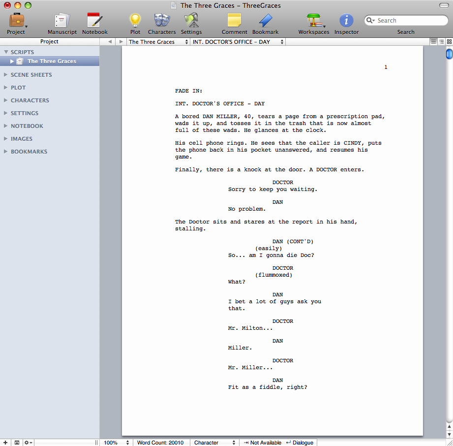 Microsoft Word Screenplay Template Unique Storyist software for Macintosh Story Development software