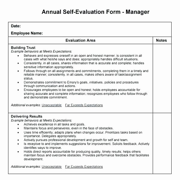 Mid Year Review Template Inspirational Mid Year Review Template S End Employee Business