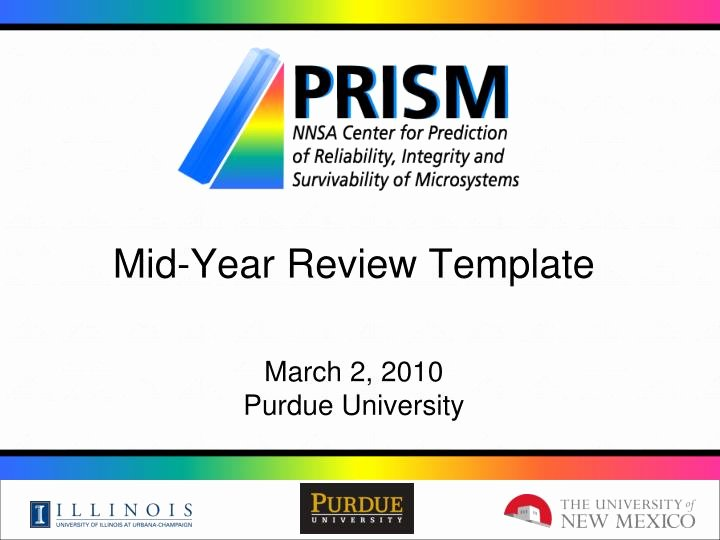 Mid Year Review Template Luxury Ppt Mid Year Review Template March 2 2010 Purdue