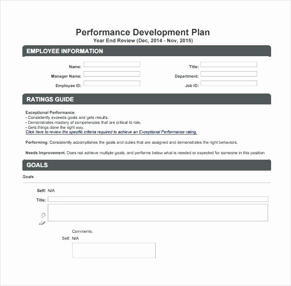 Mid Year Review Template Unique Employee Performance Review form Employee Year End Review