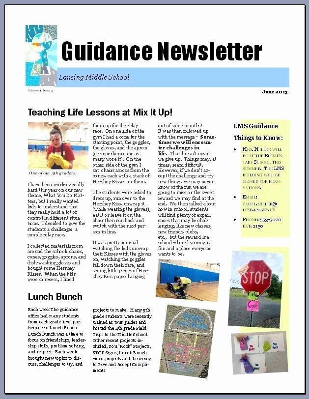 Middle School Newsletter Template Elegant 17 Best Ideas About School Newsletters On Pinterest