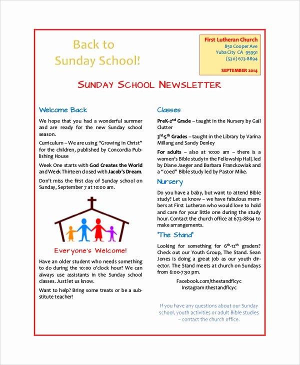 Middle School Newsletter Template Elegant 8 Sample School Newsletters