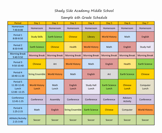 Middle School Schedule Template Inspirational Quotes About Block Scheduling 26 Quotes