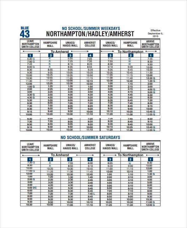 Middle School Schedule Template Luxury 10 School Schedule Templates