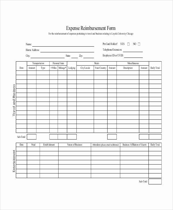 Mileage Reimbursement form Template Beautiful 11 Sample Mileage Reimbursement forms