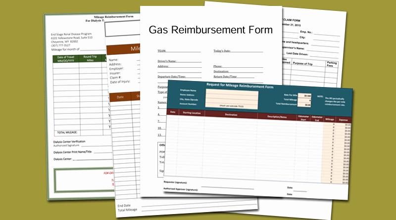 Mileage Reimbursement form Template Beautiful 5 Mileage Reimbursement form Templates for Word and Excel
