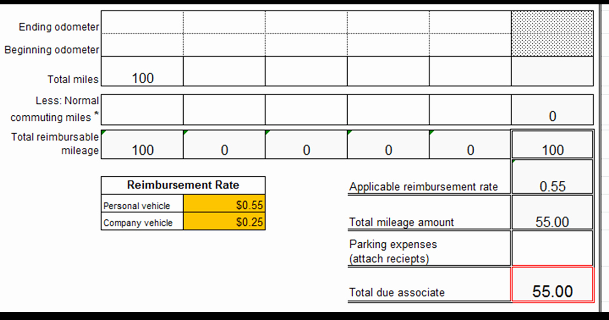 Mileage Reimbursement form Template Fresh Excel Spreadsheets Help Mileage Reimbursement form Template