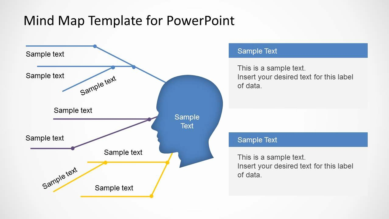 Mind Map Template Powerpoint Beautiful Simple Mind Map Template for Powerpoint Slidemodel