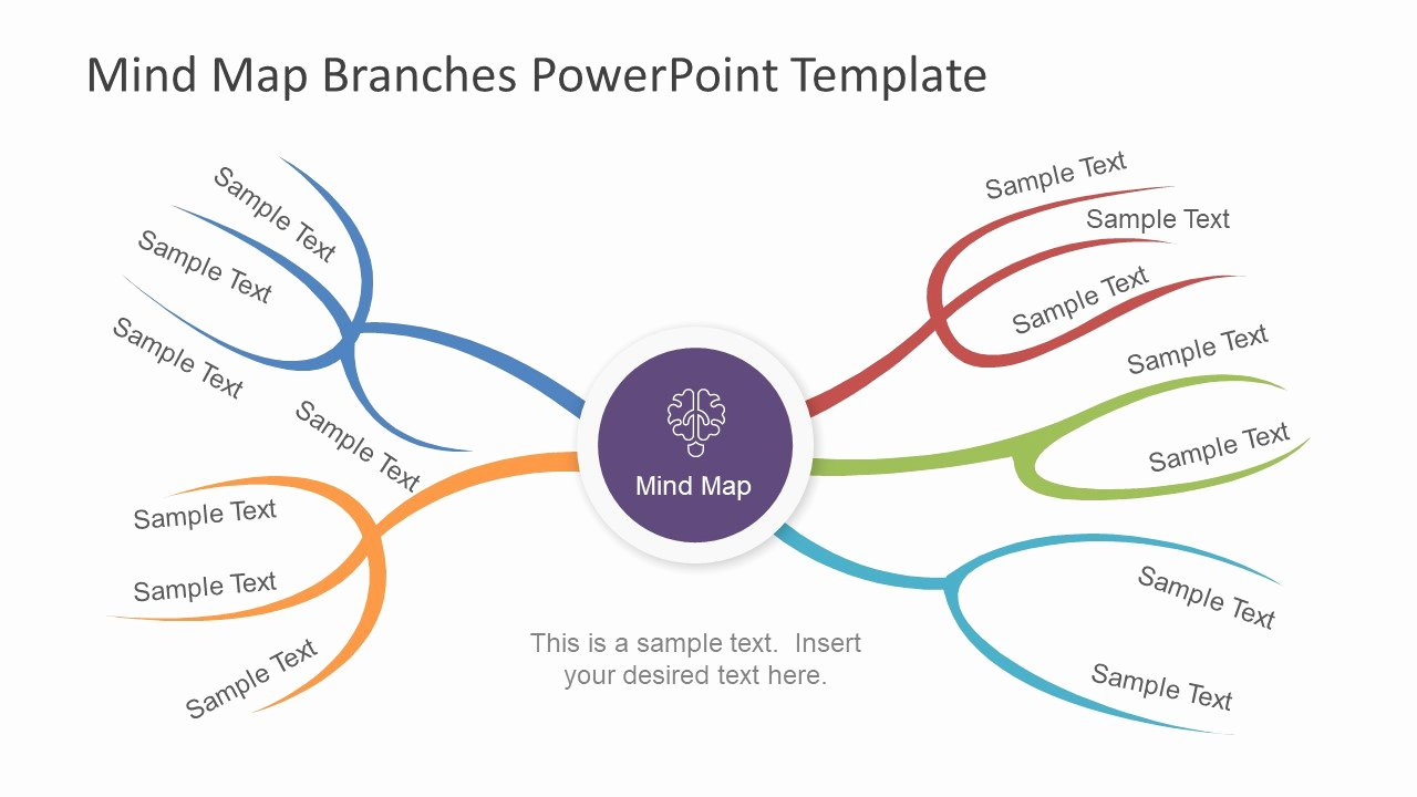 Mind Map Template Powerpoint Best Of Mind Map Branches Powerpoint Template Slidemodel
