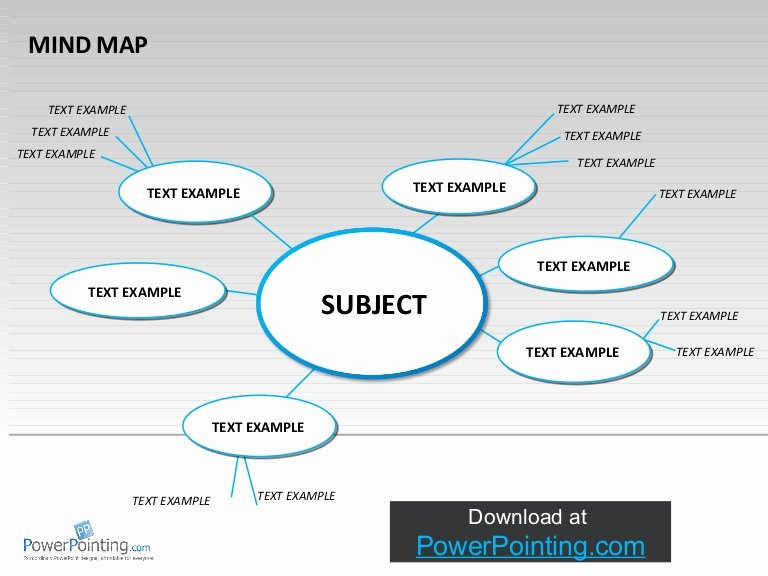Mind Map Template Powerpoint New Powerpoint Mind Map