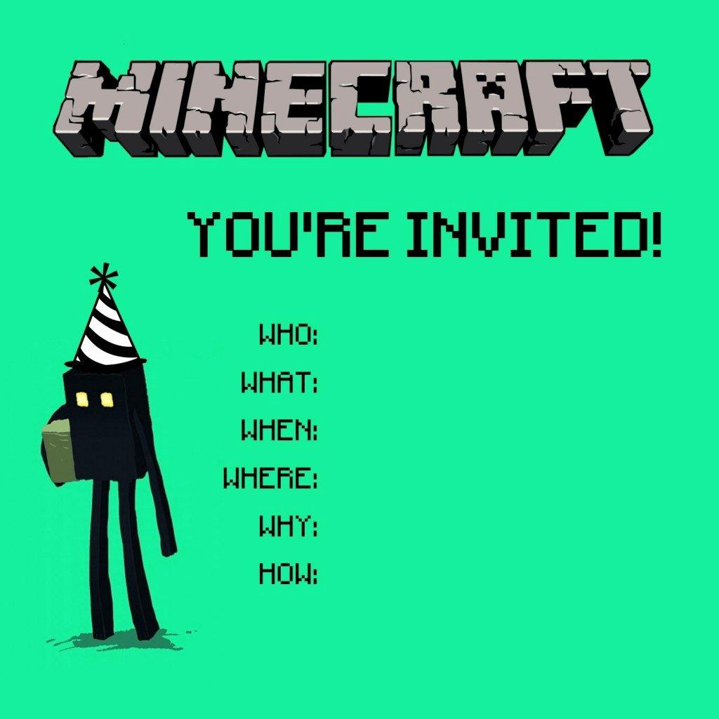Minecraft Birthday Invitation Template Lovely Crafty Ingre Nts Minecraft Birthday Party