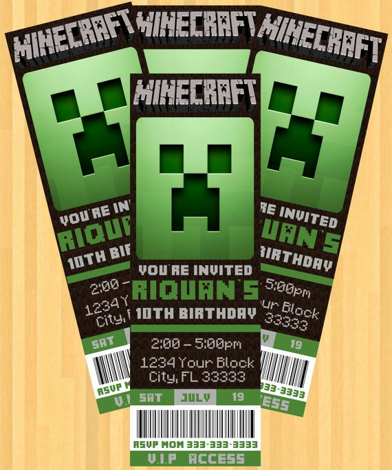 Minecraft Birthday Invite Template Elegant the Best Minecraft Party Ideas for the Ultimate Minecraft