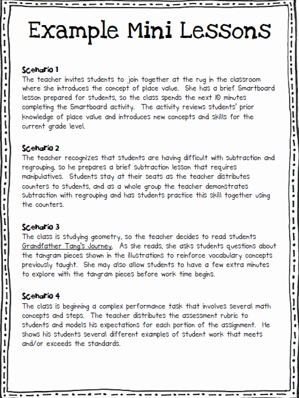 Mini Lesson Plan Template Inspirational Math Workshop In the Elementary Classroom ashleigh S