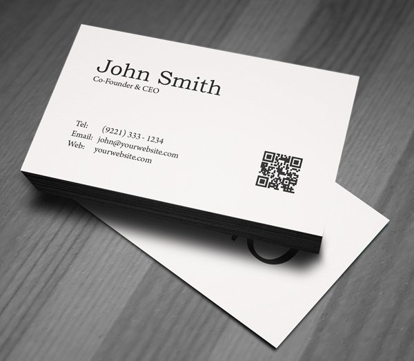 Minimalist Business Card Template Awesome Free Minimal Business Card Psd Template