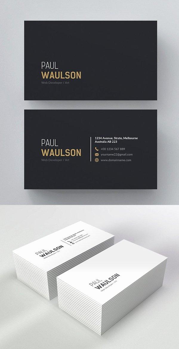 Minimalist Business Card Template Beautiful 25 Minimal Clean Business Cards Psd Templates