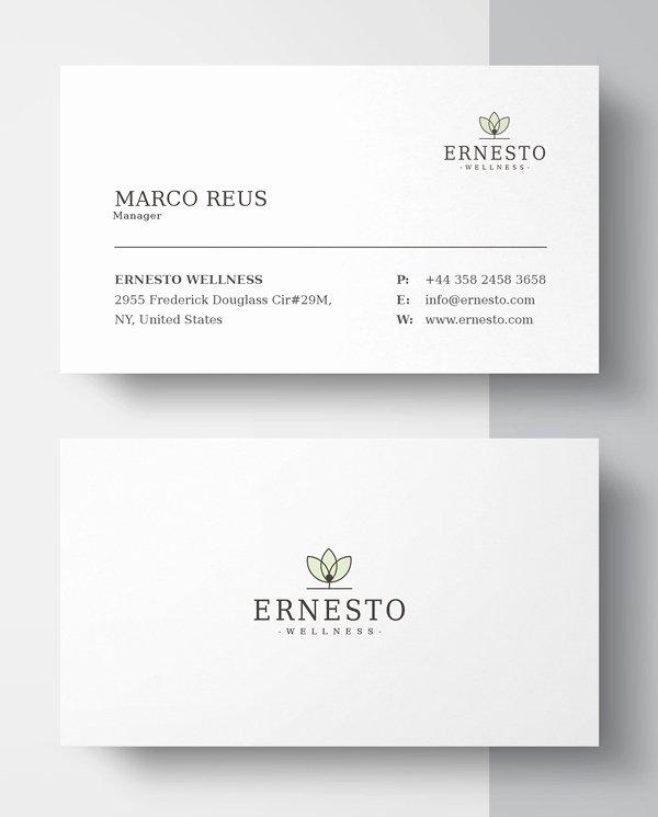 Minimalist Business Card Template Beautiful New Printable Business Card Templates Design