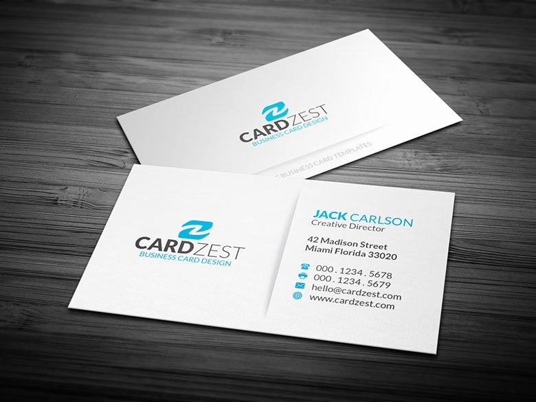 Minimalist Business Card Template Best Of Simple Blue & White Minimalist Business Card Template