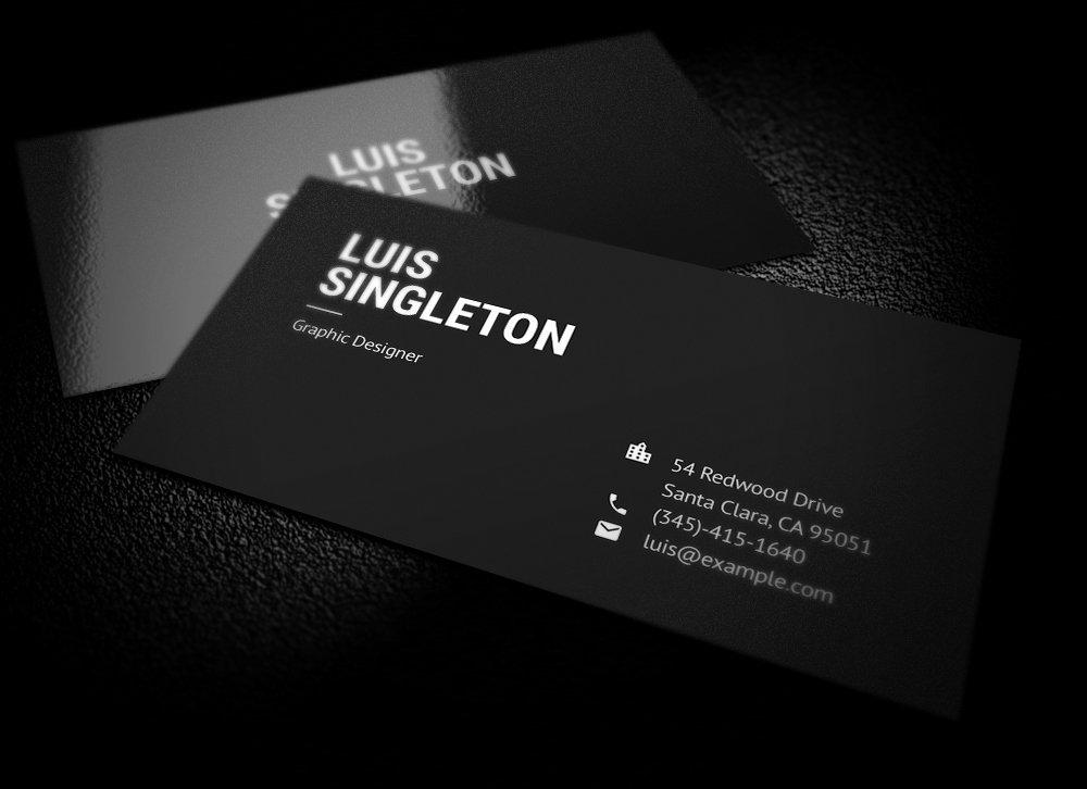 Minimalist Business Card Template Elegant Clean and Minimal Business Card Template On Behance
