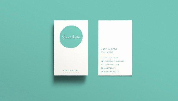 Minimalist Business Card Template Elegant Creative Templates Free Templates