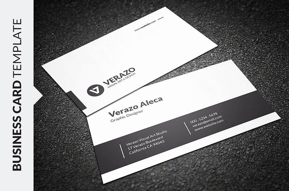 Minimalist Business Card Template Elegant Modern Minimalist Business Card Business Card Templates