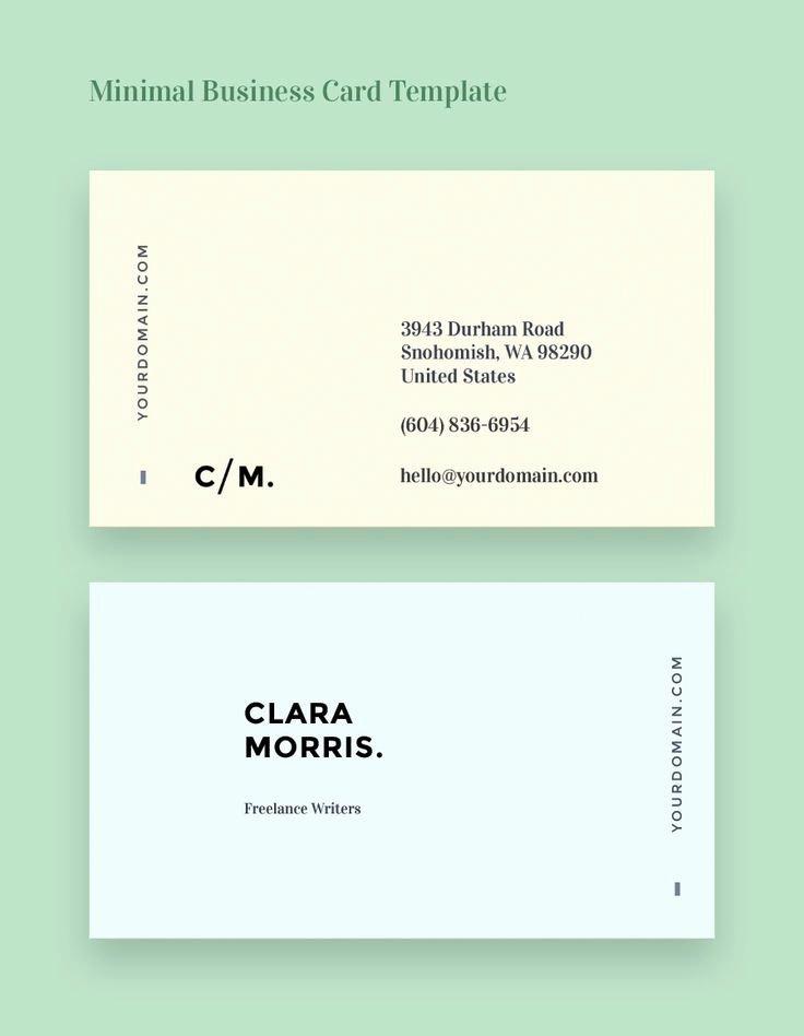 Minimalist Business Card Template Fresh 25 Bästa Visitkort Idéerna På Pinterest