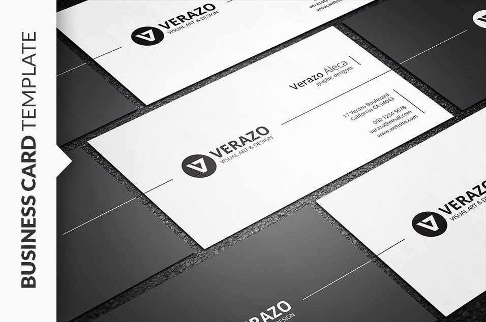 Minimalist Business Card Template Fresh Stylish Minimal Business Card Business Card Templates