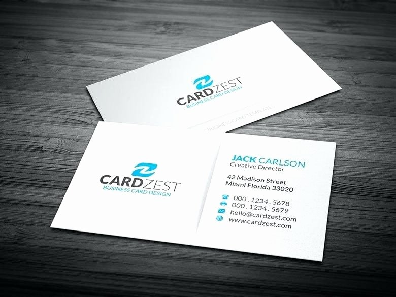 Minimalist Business Card Template Fresh White Business Card Template