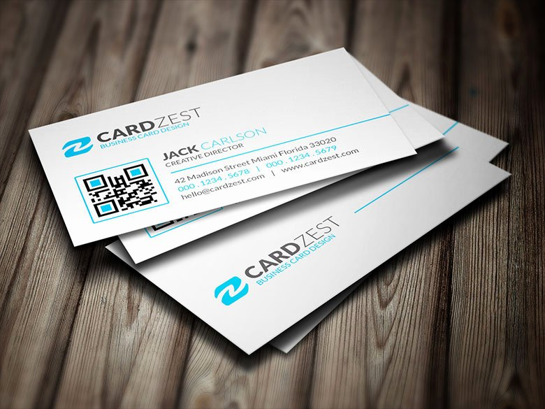 Minimalist Business Card Template Lovely Clean & Elegant Minimalist Business Card Template Cardzest