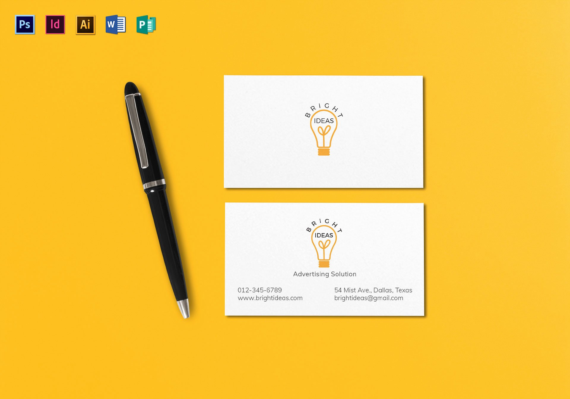 Minimalist Business Card Template Luxury Clean Minimal Business Card Template In Psd Word