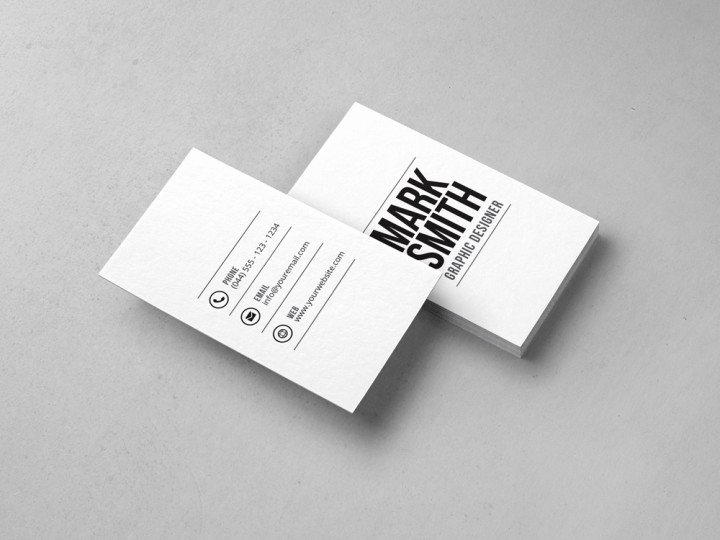 Minimalist Business Card Template New Simple Archives Graphic Pick