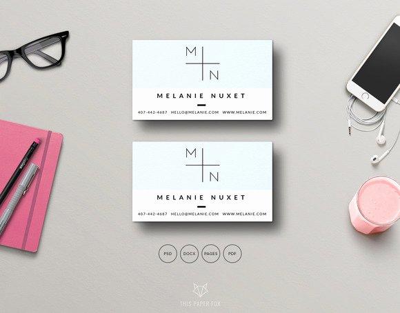 Minimalist Business Card Template Unique 20 Minimalist Business Card Templates