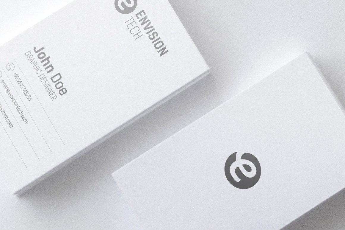 Minimalist Business Card Template Unique Clean Minimal Business Card Template Business Card