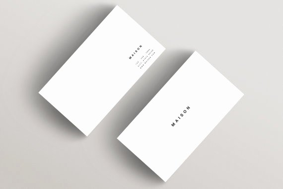 Minimalist Business Card Template Unique Maison Minimalist Business Card Template Business Card