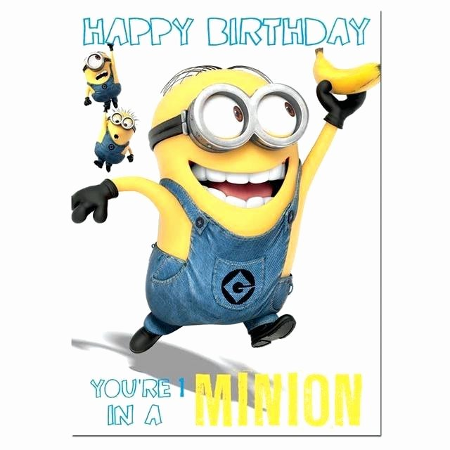 Minions Birthday Card Template Awesome Minions Birthday Card Invitation Line Cards Minion