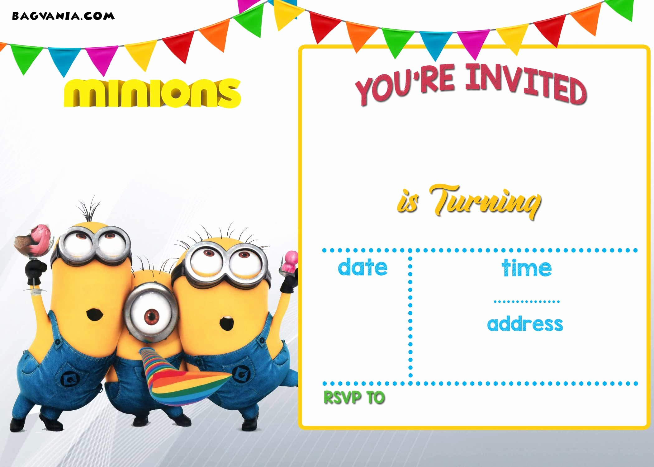 Minions Birthday Card Template Elegant Free Printable Minion Birthday Party Invitations Ideas