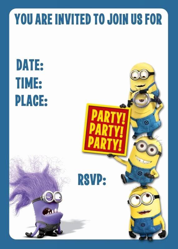 Minions Birthday Card Template Fresh Evil Minion Birthday Invitation the Dis Discussion