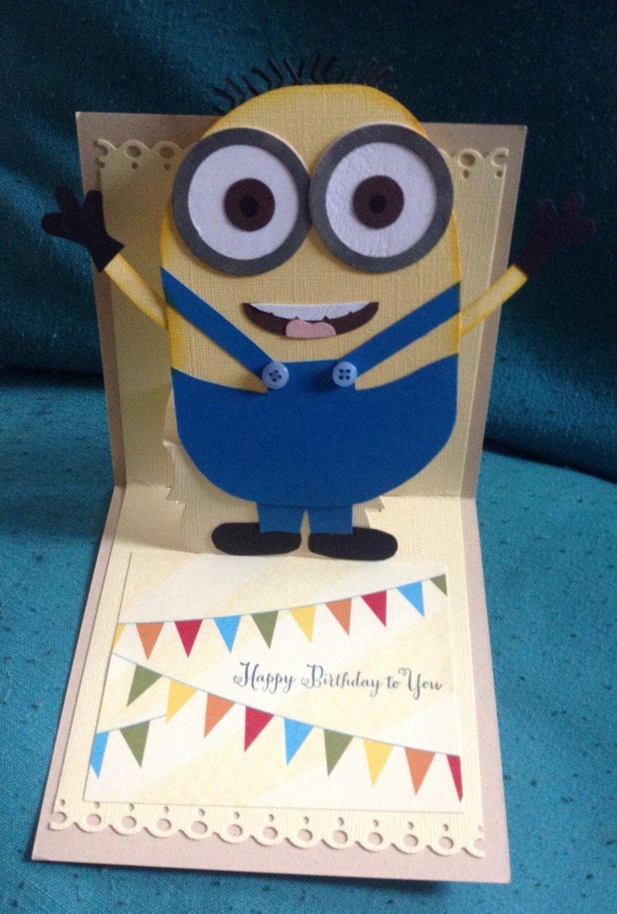 Minions Birthday Card Template Fresh Minion Birthday Card Template