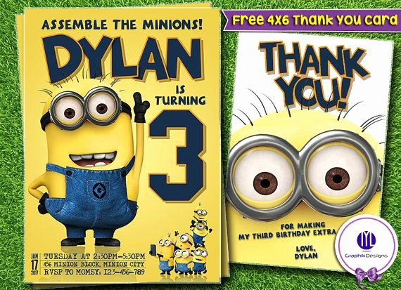 Minions Birthday Card Template Inspirational Best 25 Minion Birthday Invitations Ideas On Pinterest