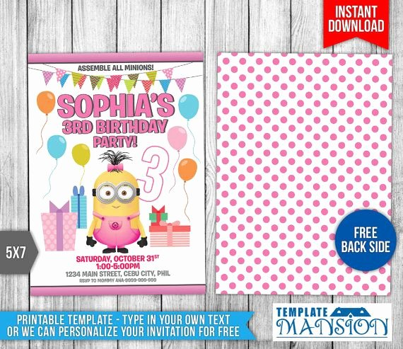 Minions Birthday Card Template Luxury 15 Must See Minion Birthday Invitations Pins