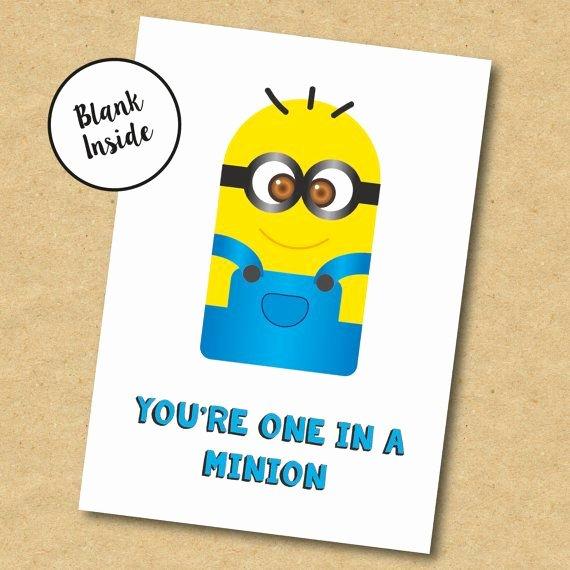 Minions Birthday Card Template Luxury Minion Birthday Card for Boyfriend Girlfriend Brother