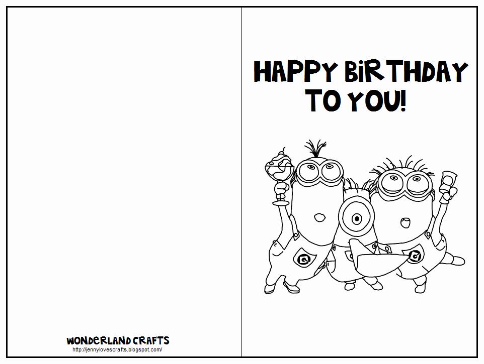 Minions Birthday Card Template Luxury Minion Birthday Card Template