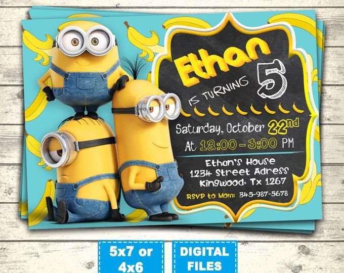 Minions Birthday Invitation Template Beautiful Best 25 Minion Birthday Invitations Ideas On Pinterest